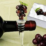 Art Deco Grapes Wine Stopper