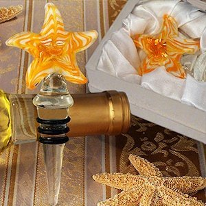 Art Deco Yellow Starfish Wine Stopper image