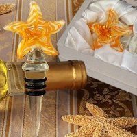 Art Deco Yellow Starfish Wine Stopper