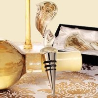 Art Deco Elegant Golden Swirl Wine Stopper