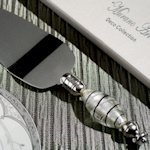 Art Deco Silver and Black Cake Server Favors