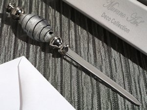 Art Deco Black and Silver Letter Opener Favors image