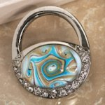 Art Deco Blue & Gold Purse Design Handbag Holder