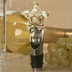 Murano Art Deco Starfish Wine Pourer-Stopper image