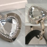 Crystal Heart Handbag Holder Favor