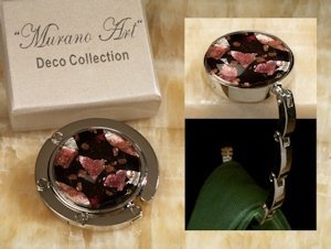Art Deco Rich Colors Round Hand Bag Holder Favors image