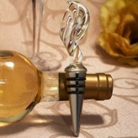 Art Deco Gold Twist Wine Stopper Favors