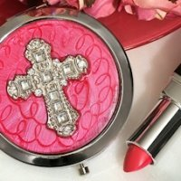Cross Design Stylish Compact Mirror Favors