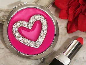 Chic Heart Compact Mirror Favors image