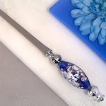 Dazzling Murano Art Blue and White Letter Opener