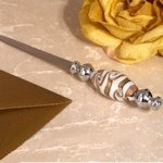 Chic Murano Art Golden Swirls Letter Opener