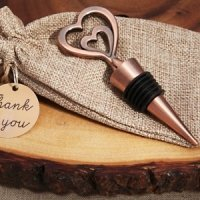 Two Hearts Vintage Inspired Copper Bottle Stopper