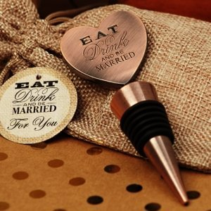 Eat Drink Be Married Copper Bottle Stopper image