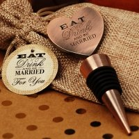 Eat Drink Be Married Copper Bottle Stopper