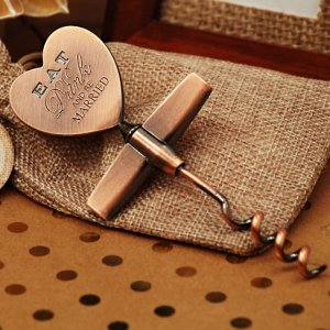Eat Drink Be Married Copper Wine Opener image