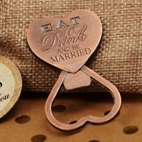 Eat Drink Be Married Copper Bottle Opener