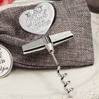 Eat Drink Be Married Chrome Wine Opener