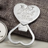 Eat Drink Be Married Chrome Bottle Opener