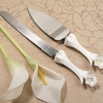 Calla Lilies Wedding Serving Set for Cake