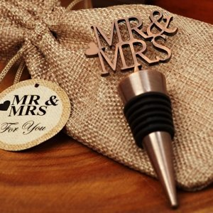 Copper Elegance Mr and Mrs Bottle Stopper image