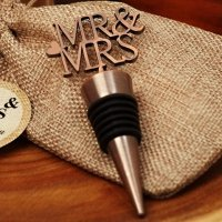 Copper Elegance Mr and Mrs Bottle Stopper