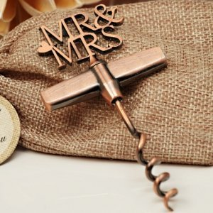 Copper Elegance Mr and Mrs Wine Opener image