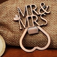 Copper Elegance Mr and Mrs Bottle Opener