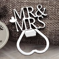 Silver Elegance Mr and Mrs Bottle Opener