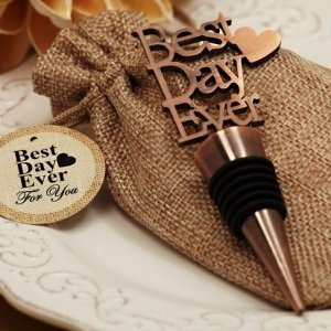 Our Best Day Ever Copper Bottle Stopper image