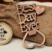 Our Best Day Ever Copper Bottle Opener