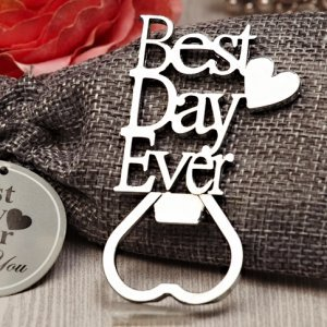 Our Best Day Ever Chrome Bottle Opener image