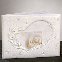 Crystal Calla Lily Guest Book