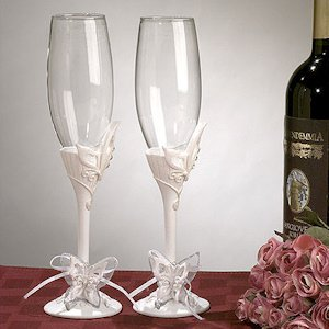 Butterfly Toasting Flutes image