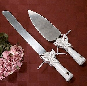 Butterfly Cake Server Set image