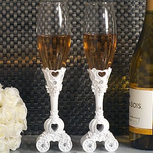 Enchanted Fairytale Wedding Toasting Flutes image