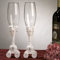 Wedding Coach Toasting Flutes