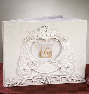 Wedding Coach Cinderella Guest Book image