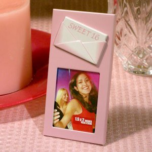 'Sweet 16' Pink Photo Frame with Embossed Envelope image