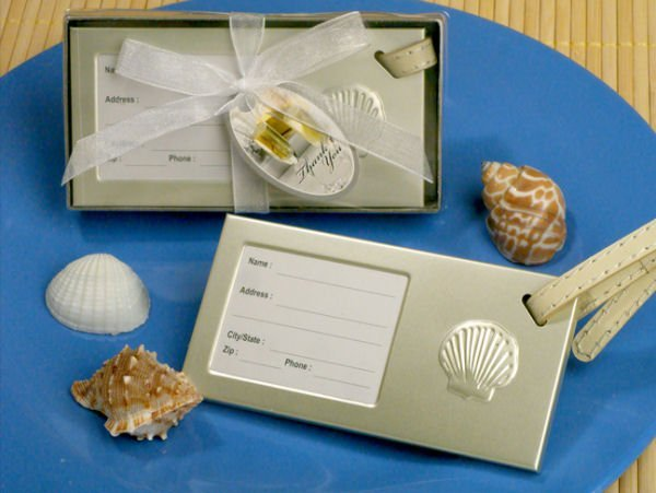 Seashell Luggage Tag Party Favors Wedding Favors Unlimited