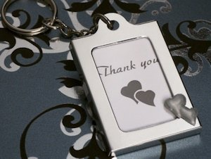 Double Hearts Photo Frame Key Chain Favors image
