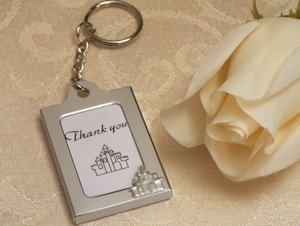 Enchanted Castle Photo Frame Key Chain Favors image