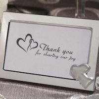 Two Hearts as One Metal Photo Frame Favors