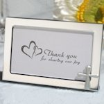 Cross Accented Metal Photo Frame Favors