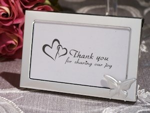 Graceful Butterfly Photo Frame Wedding Favors image