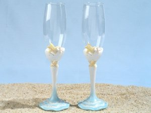 Starfish Beach Toasting Glasses Set image
