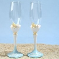Starfish Beach Toasting Glasses Set
