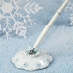 Blue Snowflake Guest Book Pen Set