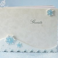 Blue Snowflake Guest Book