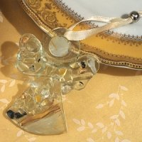 Art Deco Golden Glass Angel Ornament Favor