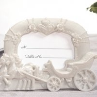 Fairytale Wedding Coach Place Card Frame Favors